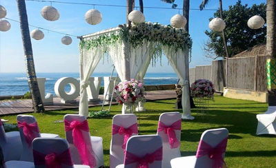 Villa Samudra Pool Garden, wedding packages beachfront villa Bali